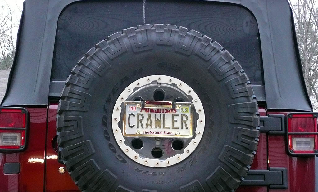 License Plate Relocation To Spare Tire Jkowners Com